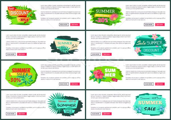 Groß Sommer Verkauf Flyer Set Stock foto © robuart
