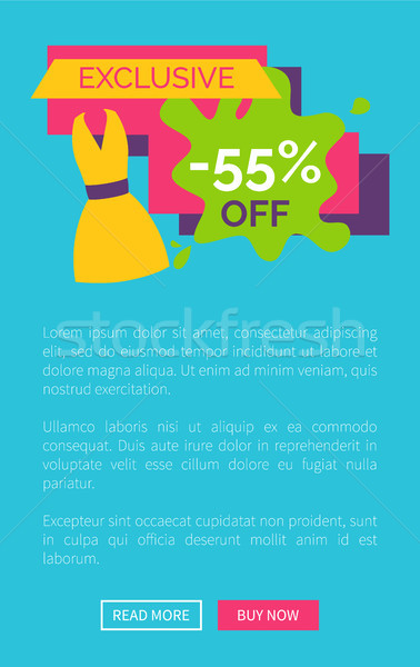55 Off Exclusive Discount Logotype with Dress Stock photo © robuart