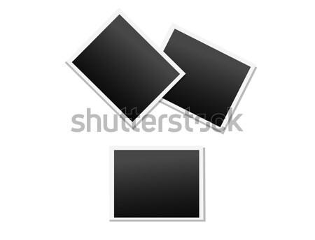 Empty Polaroid Photo Frames Vector Icons Set Stock photo © robuart