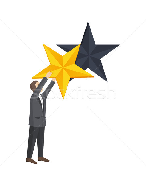 Man Given Golden Star to Improve Rating Level Stock photo © robuart