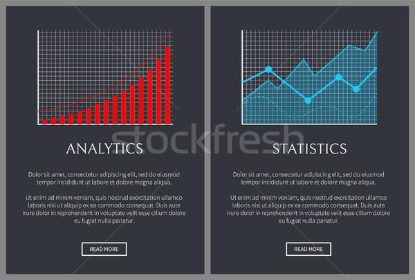 Analytik Statistik Grafiken Web Seiten Charts Stock foto © robuart