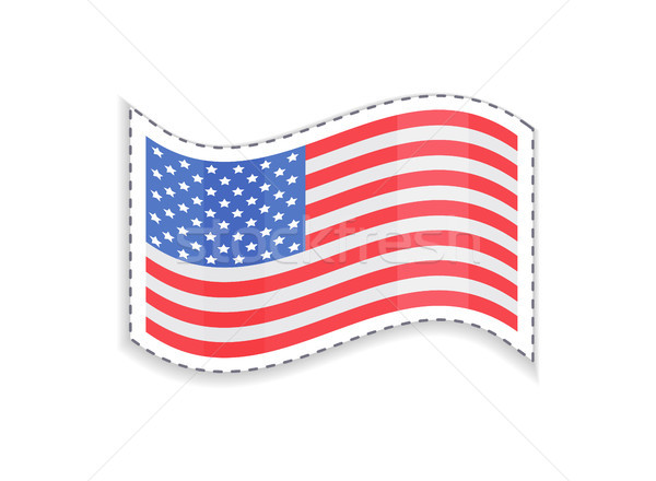 Old Glory USA Flag of Rectangular Shape, Patriotic Stock photo © robuart