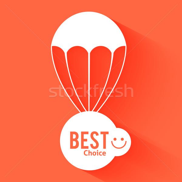 Stockfoto: Korting · parachute · tekst · business · teken