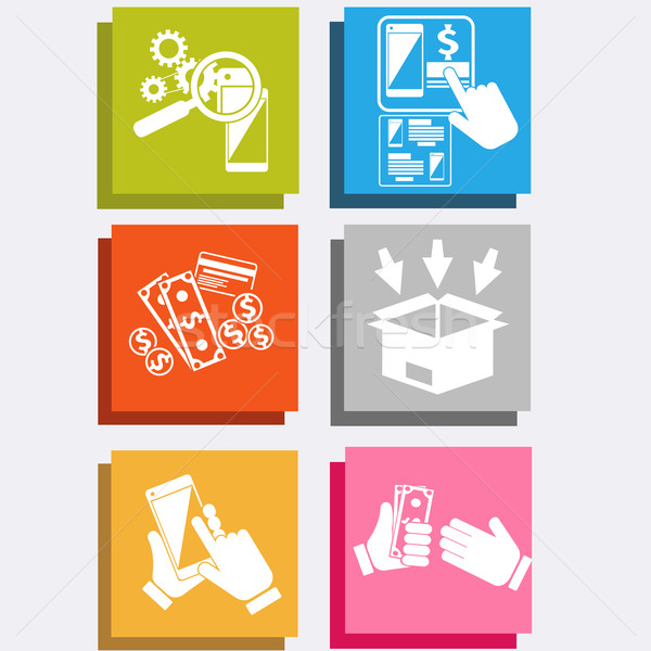 Online ekereskedelem technológia internetes vásárlás nagy vásár Stock fotó © robuart