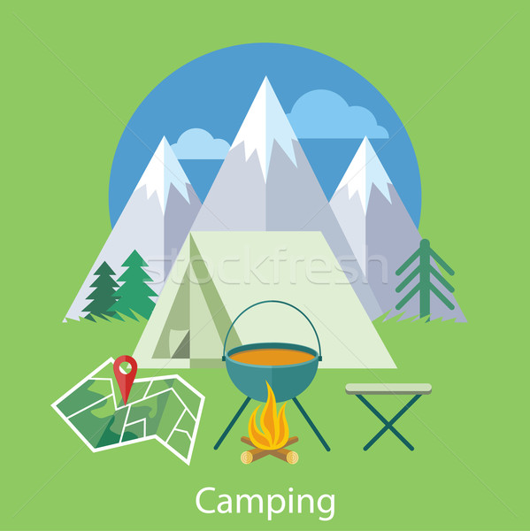 Camping Concept Stock photo © robuart