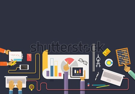 Concept of business. Data collection. Analysis Stock photo © robuart