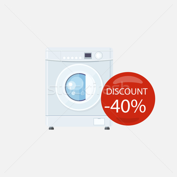 Sale of Household Appliances Washing Machine Stock photo © robuart