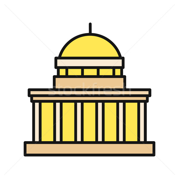 Icon Building Flat Design Isolated Stock photo © robuart