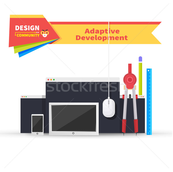 Adaptive Development Tablet and Paint Tools Stock photo © robuart
