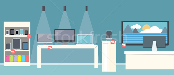 Sale of Smartphone Design Flat Store Stock photo © robuart