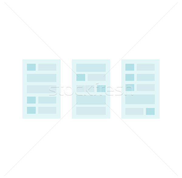 User Interface Templates Stock photo © robuart