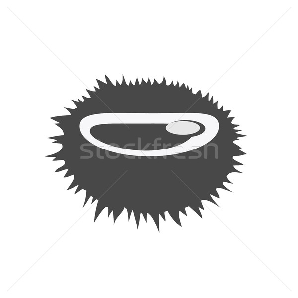 Sea Urchin Vector Flat Design Illustration Stock photo © robuart