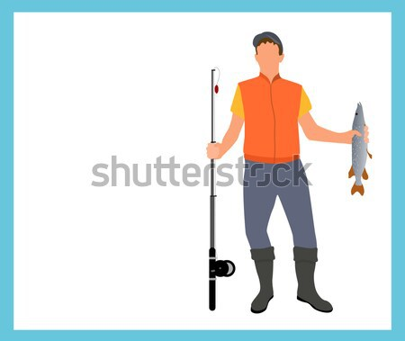 Stock photo: Man Character Template Vector Illustration.