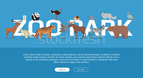 Zoo Park Banner. Website Template Stock photo © robuart