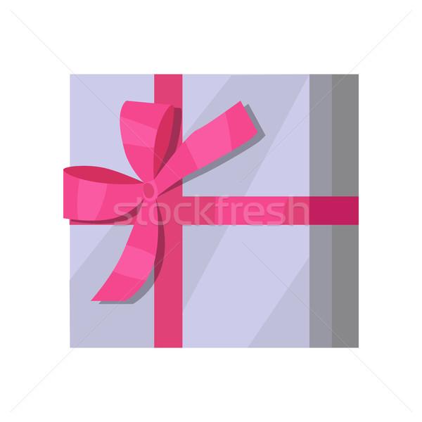 銀 ギフトボックス ピンクリボン グレー デザイン 美しい ストックフォト © robuart