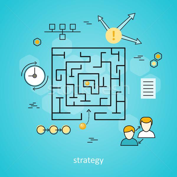 Strategy Business Background Stock photo © robuart