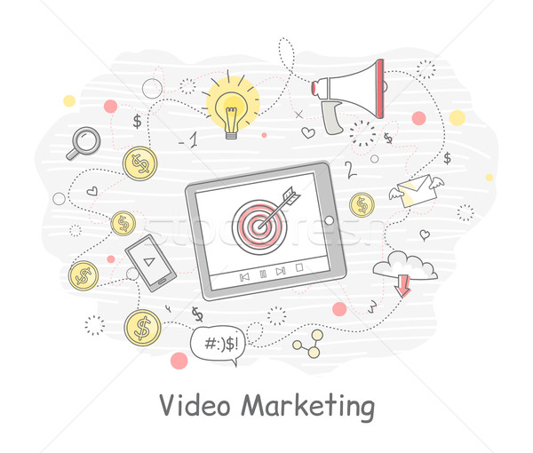 Video Marketing Banner Stock photo © robuart