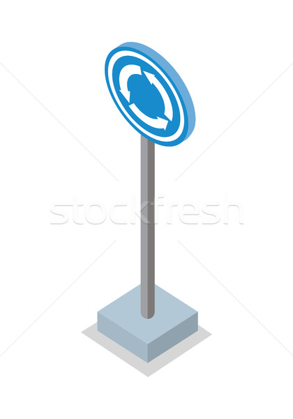 Roundabout Road Sign Vector Illustration.   Stock photo © robuart