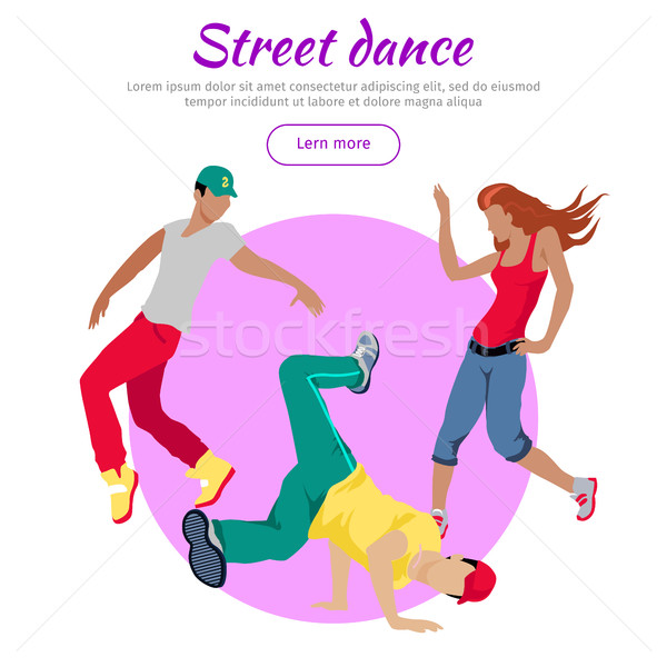 Street Dance Concept Flat Style Vector Web Banner Stock photo © robuart