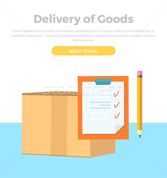 Lieferung Waren Banner Verpackung Produkt Design Stock foto © robuart
