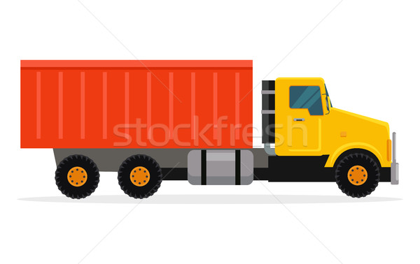 Delivery Tipper Truck Transportation. Vector Cargo Stock photo © robuart