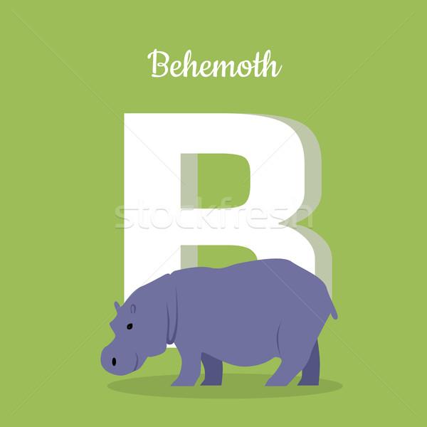 Hayvanlar alfabe mektup hayvan mavi öğrenme Stok fotoğraf © robuart