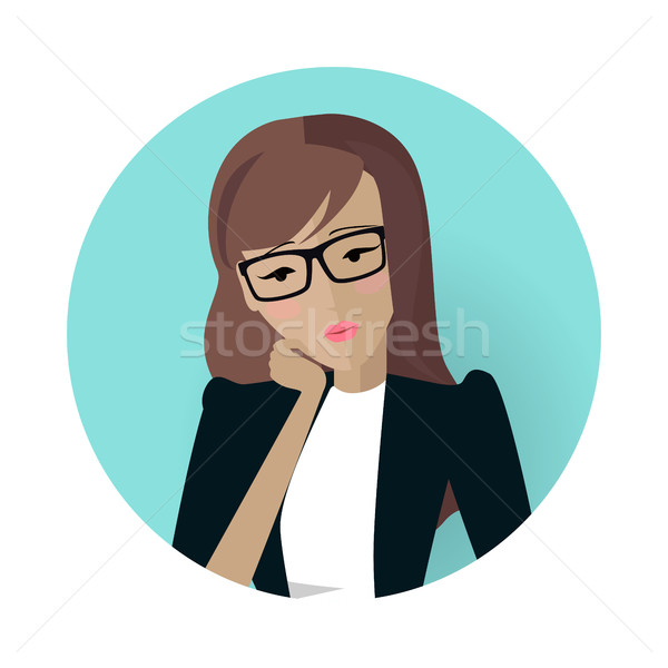 Userpic of a Business Lady. Woman at Work Icon Stock photo © robuart