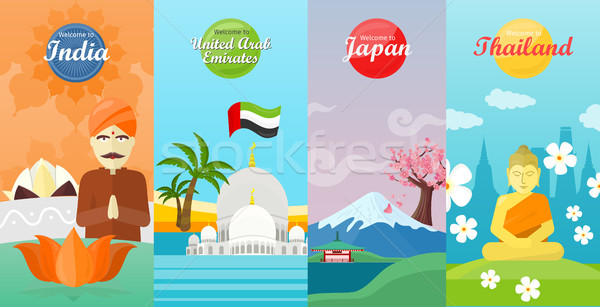 Welcome to Japan, Thailand, India, UAE Stock photo © robuart