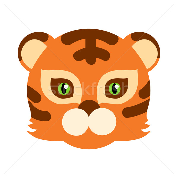 Tiger Cat Carnival Mask Striped Orange Brown Beast Stock photo © robuart