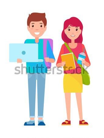Család vásárlás illusztráció anya ki táska Stock fotó © robuart