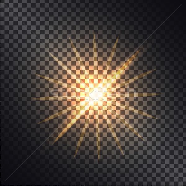 Effecten grafisch ontwerp bliksem zon heldere stralen Stockfoto © robuart
