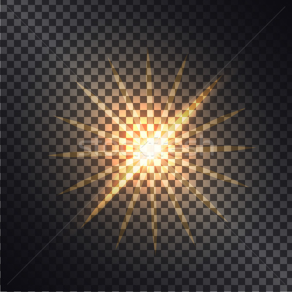 Vector illustration of luminous effects graphic design. Stock photo © robuart
