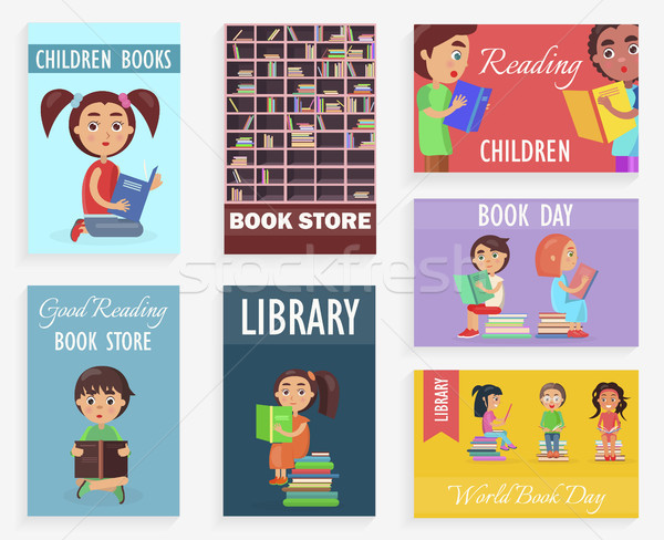 World Book Day in Children Library of Bookstore Stock photo © robuart