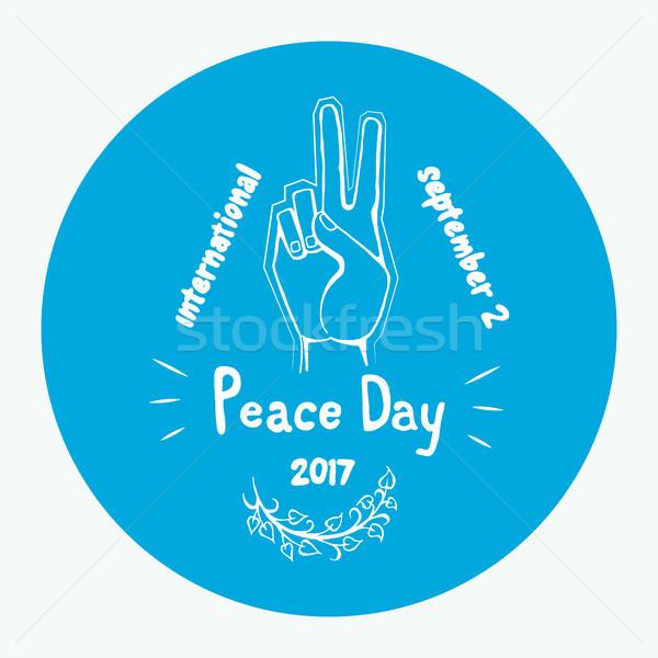 International Peace Day Poster 21 September 2017 Stock photo © robuart