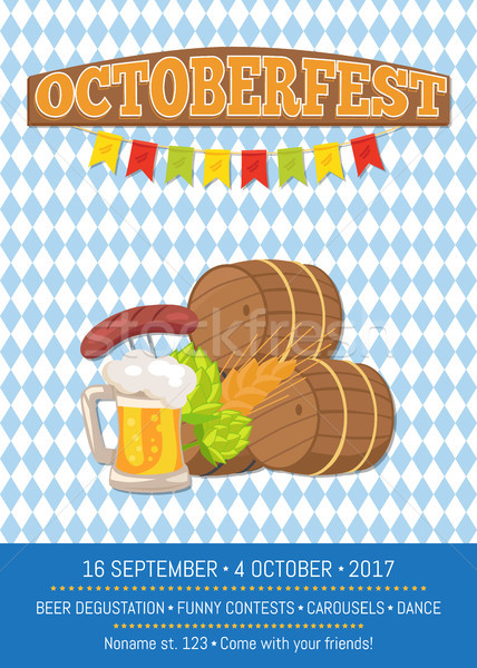 Beer Degustation 2017 on Vector Illustration Card Stock photo © robuart