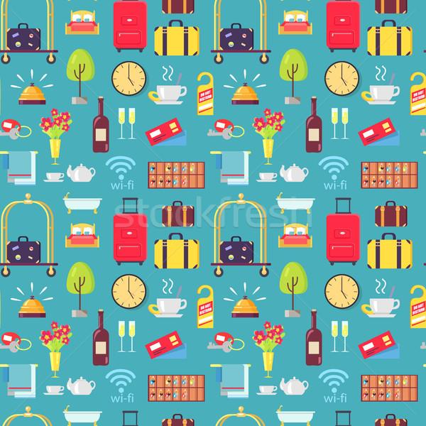 отель багаж корзины вино не Сток-фото © robuart