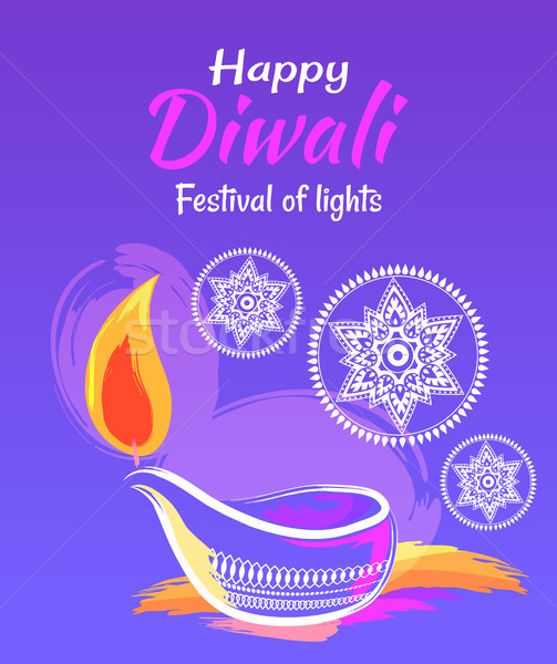 Stock photo: Happy Diwali Festival of Lights 2017 Poster
