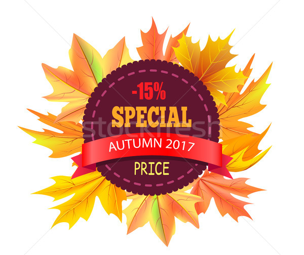 Special Autumn 2017 Price 15 Off Vector Logo Stamp Stock photo © robuart
