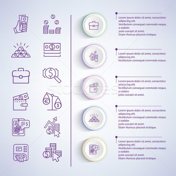 Stock photo: Business Strategies Analysis Vector Illustration