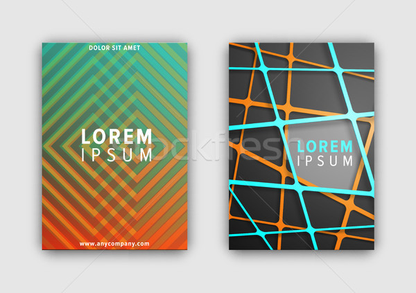 Set of Designed Covers on Vector Illustration Stock photo © robuart