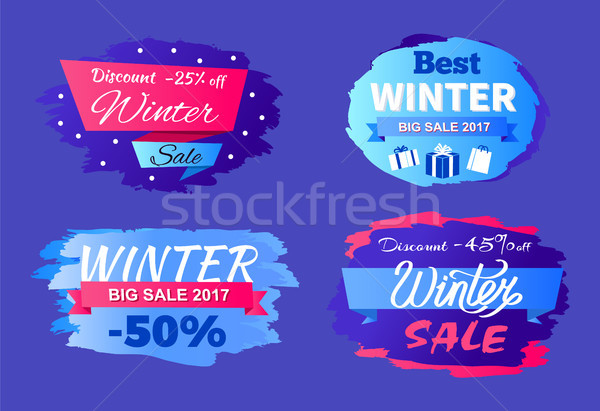 Discounts Best Winter Sale 2017 Special Offer Set Stock photo © robuart