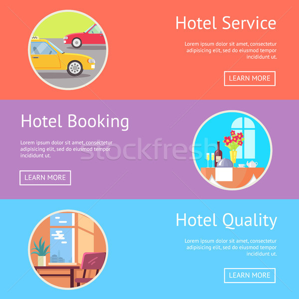 Hotel Service, Booking and Quality Visualization Stock photo © robuart