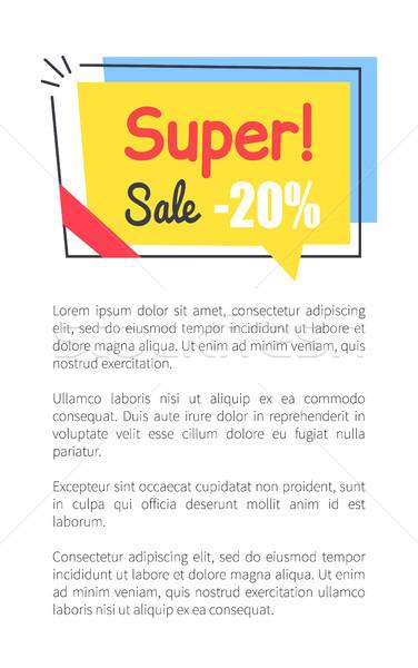 Super venda promo adesivo praça forma Foto stock © robuart