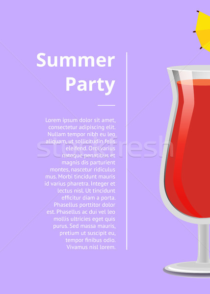 Summer Party Advert Poster Vector Illustration Stock photo © robuart