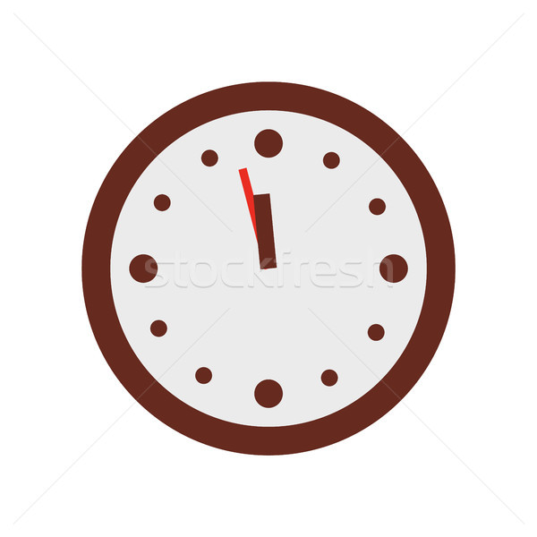 Christmas Clock Show Few Minutes to Twelve Vector Stock photo © robuart