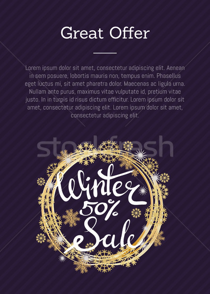 Great Offer Winter Sale 50 Poster in Decor Frame Stock photo © robuart