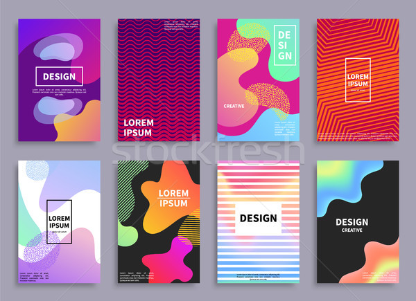 Creative Design Covers Set Vector Illustration Stock photo © robuart