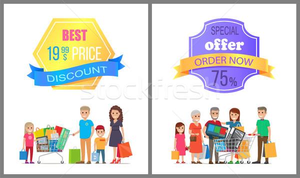 Legjobb ár árengedmény akció rendelés most el Stock fotó © robuart