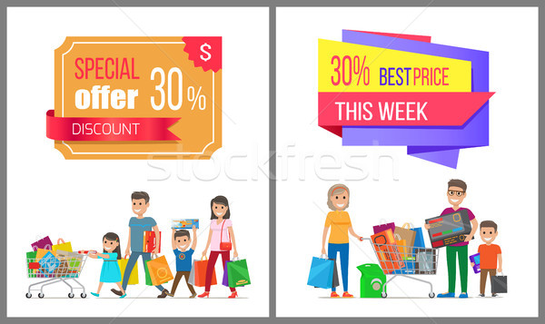 Special Offer Discount Week Best Price Sale Label Stock photo © robuart