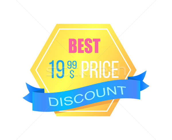 Discount with Best Price Promotional Gold Sticker Stock photo © robuart